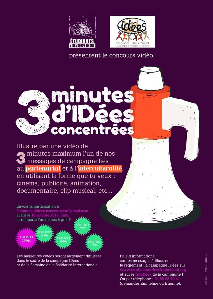 concours 3 minutes d'IDées 2012