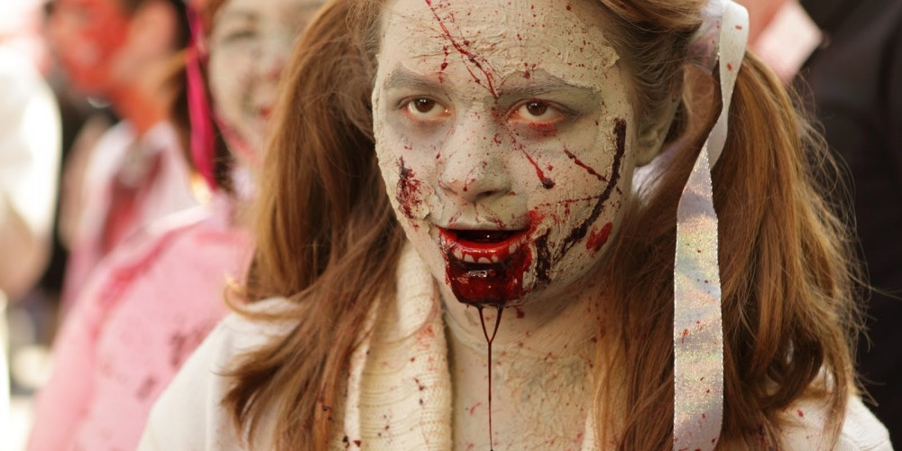 maquillage zombie petite fille