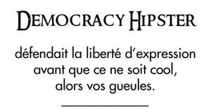 Infographie : Democracy Hipster ou le permis de compatir #CharlieHebdo
