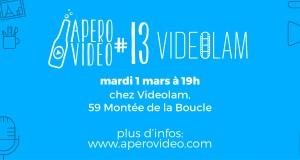 Rencontres : Apéro Vidéo #13 – Mardi 1er Mars chez Videolam